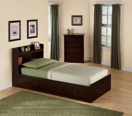 Mates Bed with Storage Headboard - 316-363