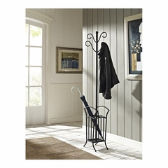 Matte Black Scroll Coat Rack - Powell Furniture - POWELL-730-617