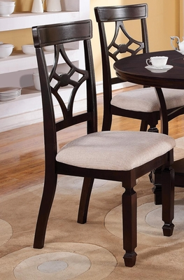 Maude Cappuccino Side Chair - Set of 2 - 103632