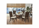 Maui Merlot / Rattan 5 Piece Dining Room Set - Largo - LARGO-WG-D9551-SET