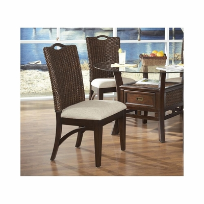 Maui Side Chairs - Set of 2 Merlot / Rattan - Largo - LARGO-ST-D9551-241