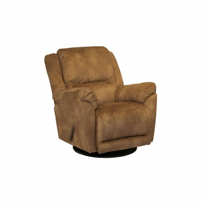 Maverick Chaise Swivel Glider Recliner in Saddle - Catnapper