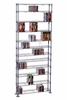 Maxsteel 12 Tier Multimedia Rack For 864 CDs or 450 DVDs and Blu-Ray in Silver - Atlantic - 63135237