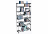 Maxsteel 8 Tier Multimedia Rack For 440 CDs or 228 DVDs and Blu-Ray in Black - Atlantic - 3020