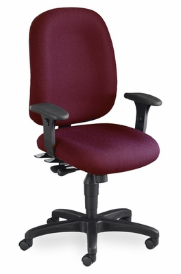 Mayline Big and Tall Comfort 24-Hour High Performance Chair in Burgundy - 2424AG2112