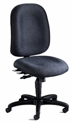 Mayline Big and Tall Comfort 24-Hour High Performance Chair in Gray - 2424AG2110