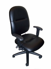 Mayline Big and Tall Comfort 24-Hour High Performance Leather Chair - 2424AGBLT
