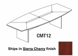 Mayline Corsica 12 Feet Boat-shaped Conference Table in Sierra Cherry - CMT12CRY