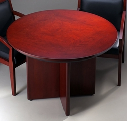 Mayline Corsica 42 Inch Round Conference Table in Sierra Cherry - CTRNDCRY