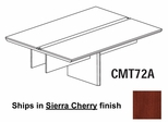 Mayline Corsica 6 Feet Conference Table Adder Section in Sierra Cherry - CMT72ACRY