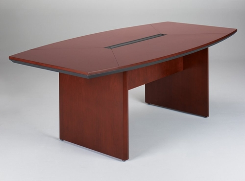 Mayline Corsica 7 Feet Boat-shaped Conference Table in Sierra Cherry - CTC84CRY