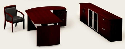 Mayline Napoli Executive Office Package 1 in Mahogany