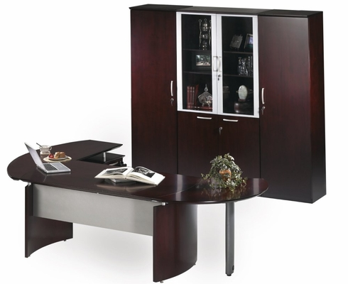 Mayline Napoli Executive Office Package 10 in Mahogany