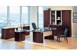 Mayline Napoli Executive Office Package 11 in Mahogany