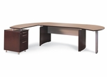 Mayline Napoli Executive Office Package 2 in Mahogany