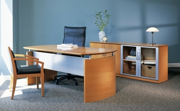 Mayline Napoli Executive Office Package 4 in Golden Cherry
