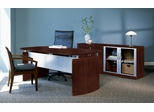 Mayline Napoli Executive Office Package 4 in Mahogany