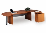 Mayline Napoli Executive Office Package 6 in Golden Cherry