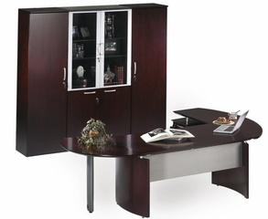 Mayline Napoli Executive Office Package 9 in Mahogany
