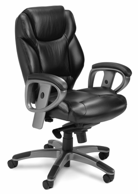 Mayline Ultimo Mid-Back with Synchro-Tilt Chair - UL330MBLK