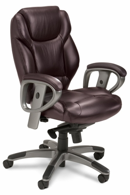 Mayline Ultimo Mid-Back with Synchro-Tilt Chair - UL330MBUR