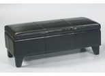 MBC-001 Storage Bench/ Ottoman in Brown Leather - Armen Living - LCMBC001BEBC