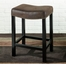 "MBS-013 Tudor Backless 26"" Stationary Barstool in Wrangler Brown - Armen Living - LCMBS013BAWR26"