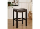 "MBS-013 Tudor Backless 30"" Stationary Barstool in Antique Brown Leather - Armen Living - LCMBS013BABC30"