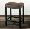 "MBS-013 Tudor Backless 30"" Stationary Barstool in Wrangler Brown - Armen Living - LCMBS013BAWR30"