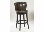 "MBS-11 Lisbon 26"" Swivel Barstool in Brown Leather / Espresso - Armen Living - LCMBS11SWBABR26"