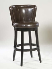 "MBS-11 Lisbon 30"" Swivel Barstool in Brown Leather / Espresso - Armen Living - LCMBS11SWBABR30"