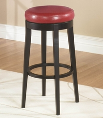 "MBS-450 26"" Backless Swivel Barstool in Red Leather / Espresso - Armen Living - LC450BARE26"