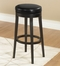 "Mbs-450 30"" Backless Swivel Barstool in Black Leather / Espresso - Armen Living - LC450BABL30"