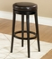 "MBS-450 30"" Backless Swivel Barstool in Brown Leather / Espresso - Armen Living - LC450BABC30"
