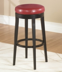 "MBS-450 30"" Backless Swivel Barstool in Red Leather / Espresso - Armen Living - LC450BARE30"