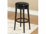 Mbs-450 Backless Swivel Barstool in Black Leather / Espresso - Armen Living - LC450BABL