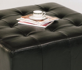 MC005-3 Empire Ottoman in Brown Leather - Armen Living - LCMC005-3BCBR