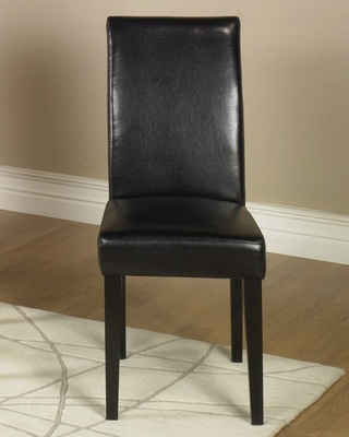 MD-014 Side Chair (Set of 2) in Black Leather - Armen Living - LCMD014SIBL-SET