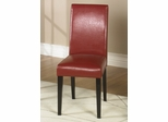 MD-014 Side Chair (Set of 2) in Red Leather - Armen Living - LCMD014SIRE-SET