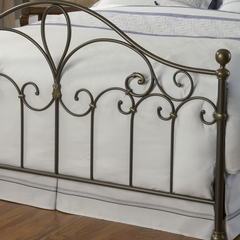 Meade Full Size Bed in Silver Gold - Hillsdale Furniture - 1520BFR