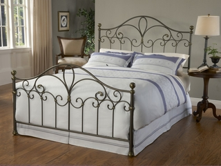 Meade King Size Bed in Silver Gold - Hillsdale Furniture - 1520BKR
