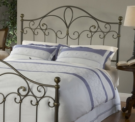Meade King Size Headboard with Frame in Silver Gold - Hillsdale Furniture - 1520HKR