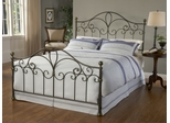 Meade Queen Size Bed in Silver Gold - Hillsdale Furniture - 1520BQR
