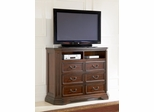 Media Chest - Foxhill Media Chest in Deep Cherry Brown - Coaster - 201586