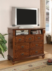 Media Chest - Isabella Media Chest in Oak - Coaster - 200517