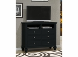 Media Chest - Sandy Beach Media Chest in Black - Coaster - 201326