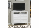 Media Chest - Sandy Beach Media Chest in White - Coaster - 201306