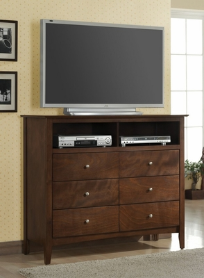 Media Chest - Tamara Media Chest in Walnut - Coaster - 201156