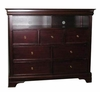 Media Chest - Versailles Media Chest in Deep Mahogany - Coaster - 201486