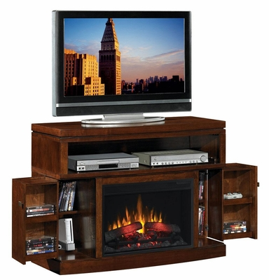 Media Mantel Electric Fireplace in Mahogany - 900374N